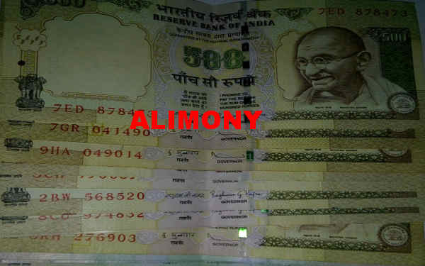 Alimony or maintenance payable under Hindu Marriage Act