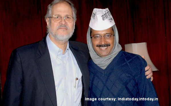 Delhi Lt. Governor Najeeb Jung and CM Arvind Kejriwal