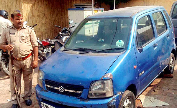 Old Maruti WagonR car of Arvind Kejriwal, which was stolen