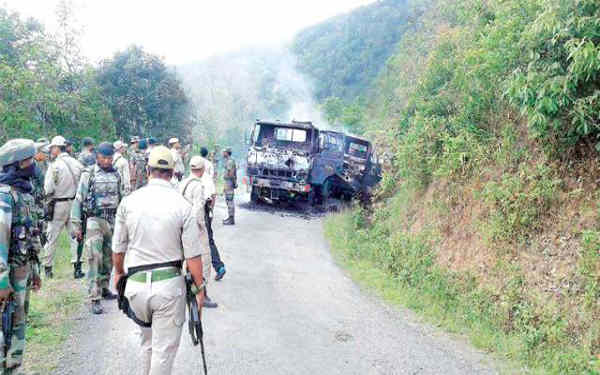 Attack on armed forces personnel in Manipur